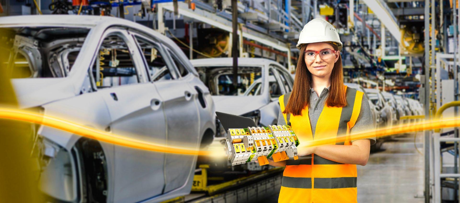 Klippon® Connect Reihenklemmen für die Maschinen und Fabrikautomation