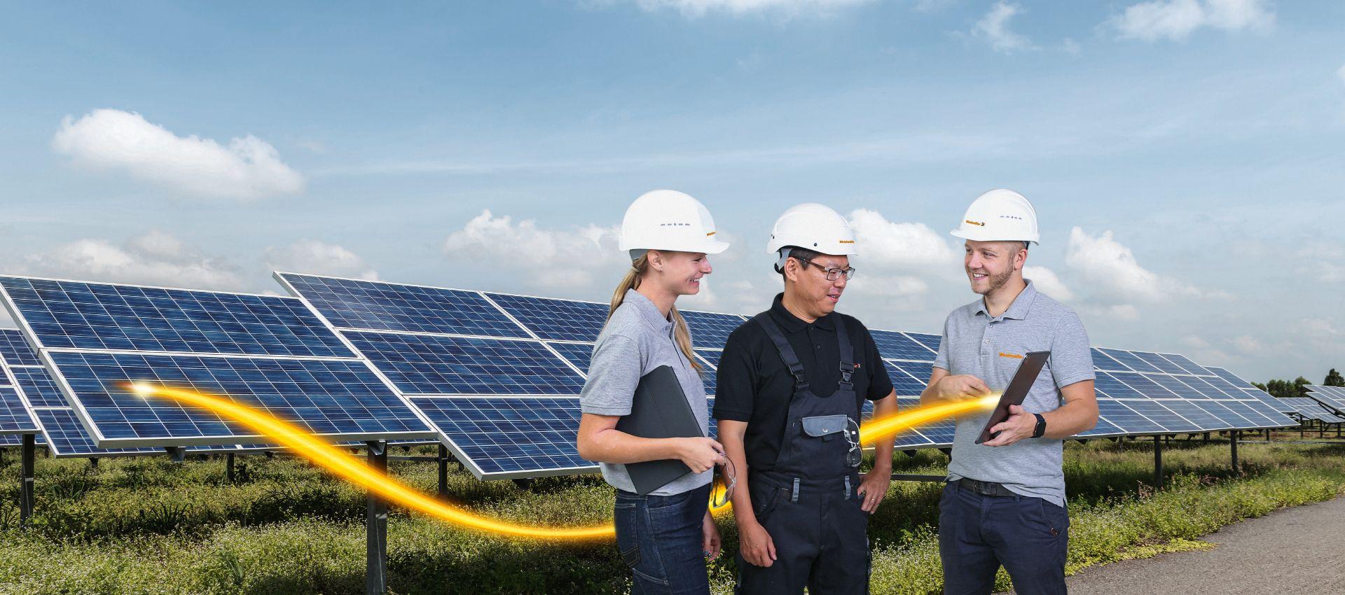Lösungen für Photovoltaikanlagen